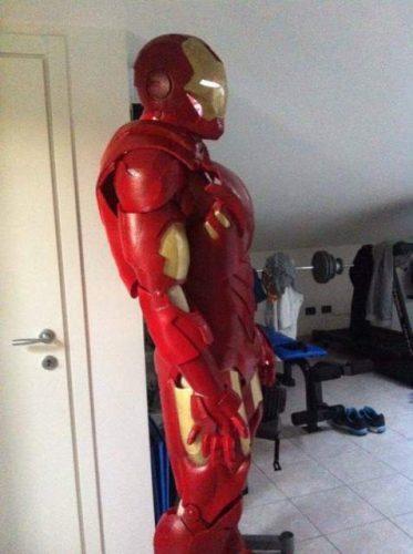 armatura Iron Man indossabile per animare feste di compleanno dei miei figli e dei loro amici