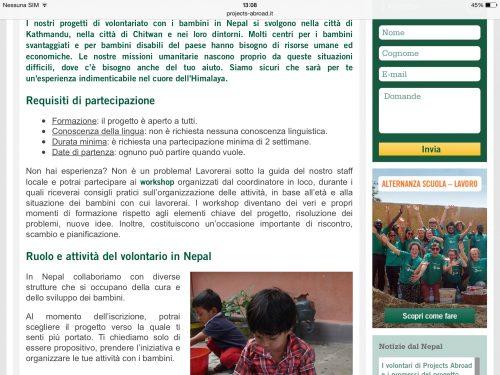 Volontariato umanitario in Nepal