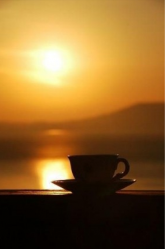Un caffè al tramonto